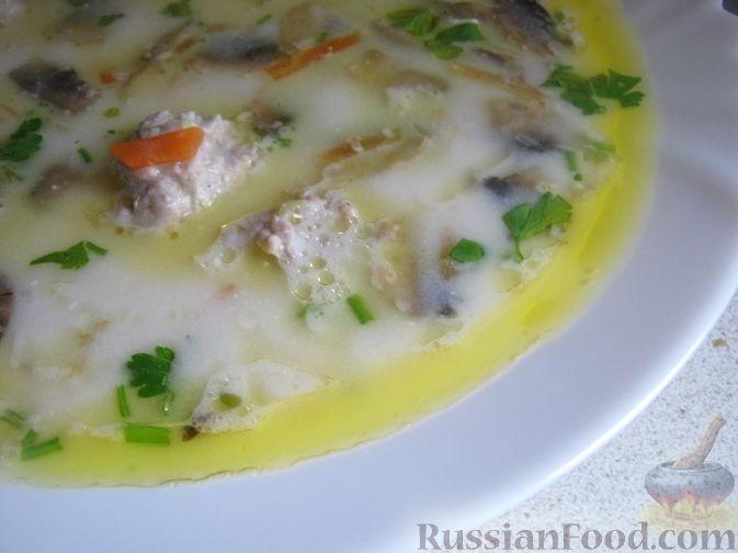Рецепт Сырный суп с фрикадельками