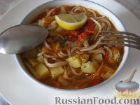 Фото приготовления рецепта: Лагман вегетарианский - шаг №19