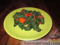 Фото к рецепту: Гарнир из шпината и помидоров
