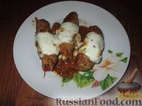 Фото к рецепту: Мясные рулетики с овощной начинкой