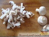 Фото приготовления рецепта: Жареные шампиньоны с луком - шаг №3