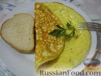 Фото к рецепту: Омлет сырный