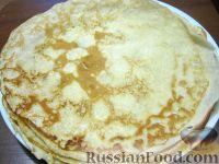 Фото приготовления рецепта: Блины молочные тонкие - шаг №11