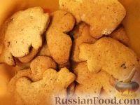 Фото к рецепту: Печенье из овсяных хлопьев с медом