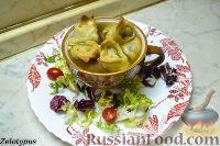 Фото к рецепту: Кундюмы в грибном бульоне