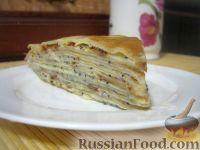 """Фото к рецепту: Блинный торт """"Маковка"""" с заварным кремом"""