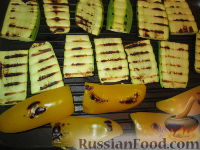 Фото приготовления рецепта: Разборный хлеб-пирог с овощами гриль - шаг №7