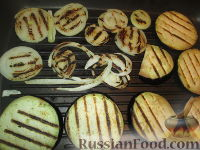 Фото приготовления рецепта: Разборный хлеб-пирог с овощами гриль - шаг №8