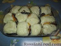 Фото приготовления рецепта: Разборный хлеб-пирог с овощами гриль - шаг №9