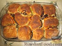 Фото приготовления рецепта: Разборный хлеб-пирог с овощами гриль - шаг №10
