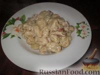 Фото к рецепту: Паста с белыми грибами, сырокопченым окороком и сливками