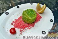 Фото к рецепту: Мусс из форели, с красным пюре