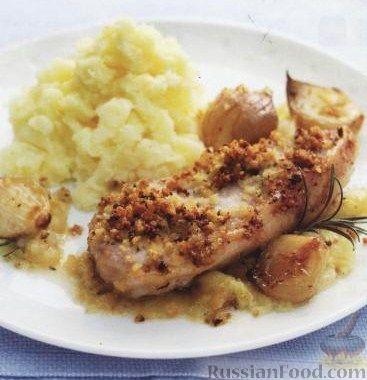 Рецепт Свинина с луком и яблоками