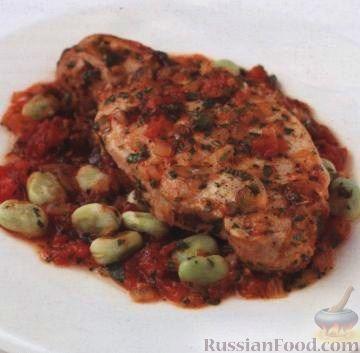 Рецепт Свинина в томатном соусе с бобовыми