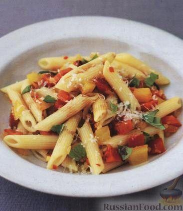 Рецепт Паста (макароны) со сладким перцем и чили
