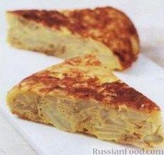 Рецепт Испанский омлет с картофелем (тортилья)