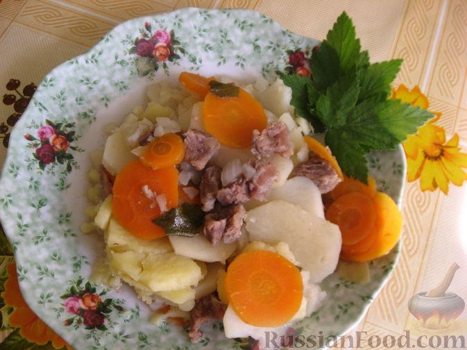 Рецепт Говядина в листьях смородины