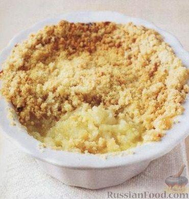 Рецепт Яблоки под песочной крошкой (яблочный крамбл)