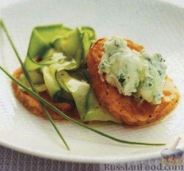 Рецепт Жареный батат (сладкий картофель) с цуккини и маскарпоне