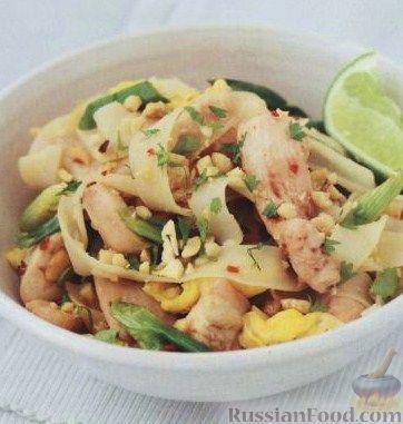 Рецепт Рисовая лапша с курицей (пад-тай)