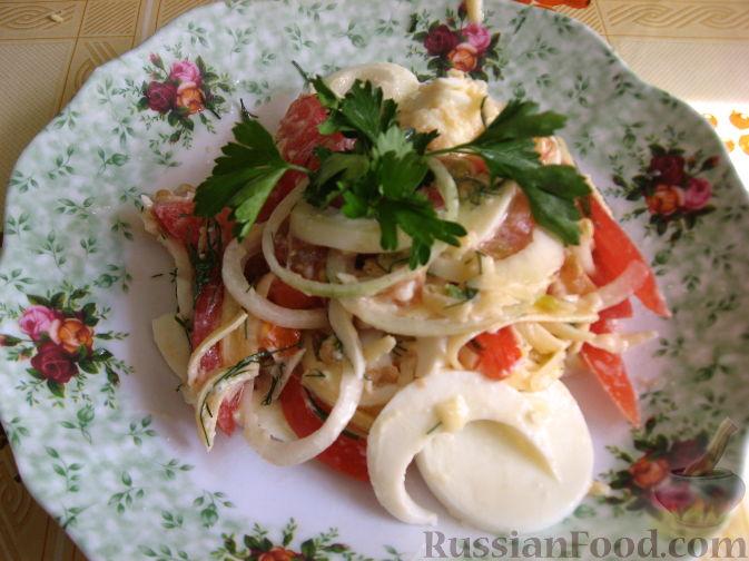 Рецепт Закуска из яиц и помидоров