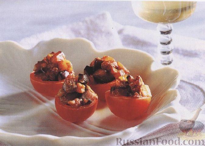 Рецепт Помидоры черри, фаршированные баклажанами