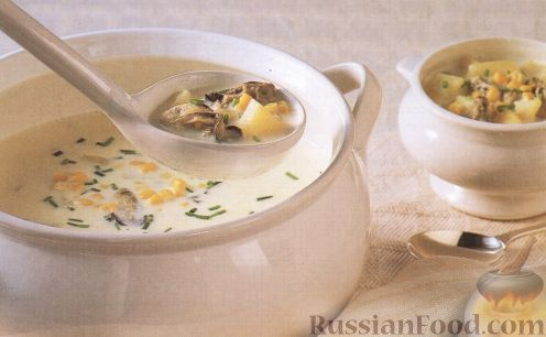 Рецепт Суп с кукурузой и устрицами