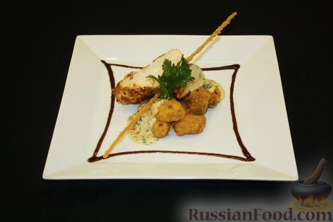 Рецепт Куриная грудка в стружке из тунца с картофелем и соусом из эстрагона
