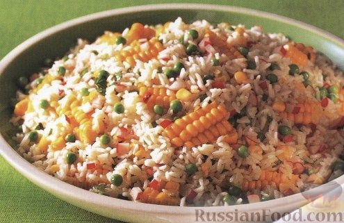 Рецепт Рисовый салат с кукурузой