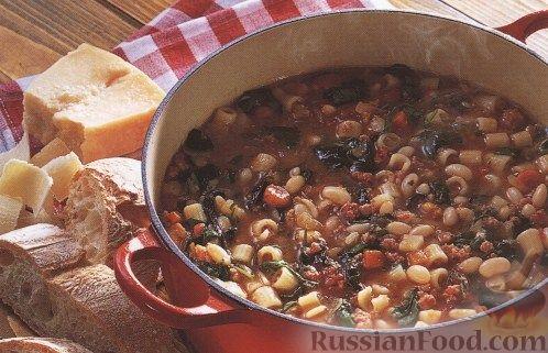 Рецепт Итальянский суп с купатами и фасолью