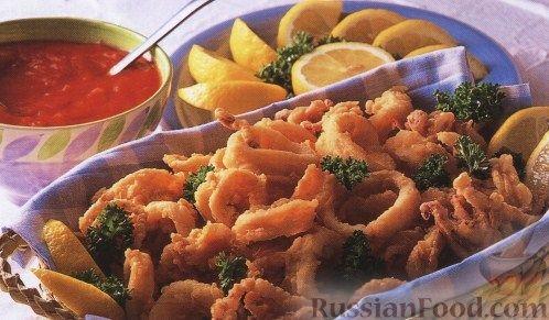 Рецепт Кальмар в остром пикантном соусе