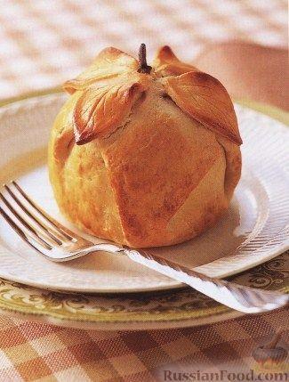 Рецепт Яблоки, запеченые в тесте с сухофруктами