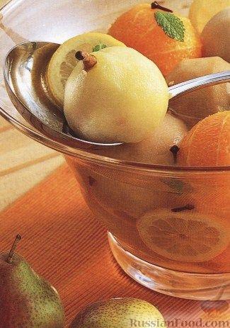 Рецепт Компот с медом, грушами и апельсинами