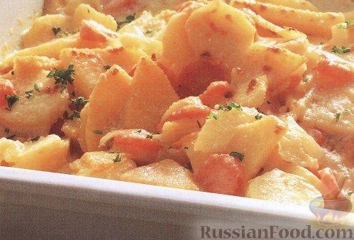 Рецепт Запеченая брюква с овощами