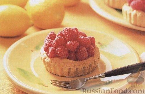 Рецепт Тарталетки с лимоном и малиной