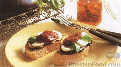 Рецепт Сэндвичи с баклажанами и моцареллой
