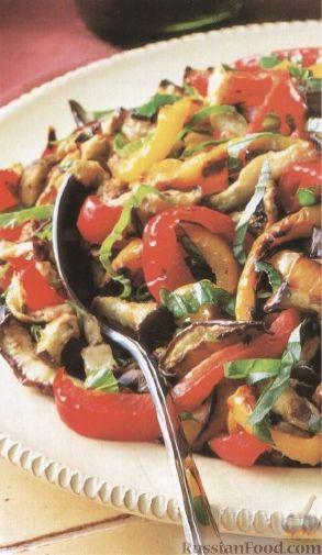 Рецепт Cалат из перца и баклажанов