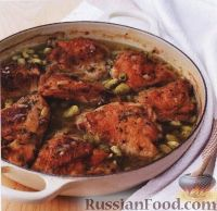 Фото к рецепту: Курица с бобами (фасолью)