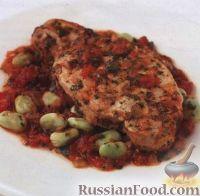 Фото к рецепту: Свинина в томатном соусе с бобовыми