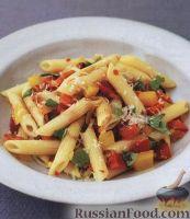 Фото к рецепту: Паста (макароны) со сладким перцем и чили