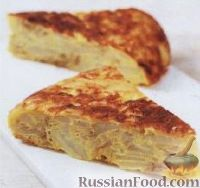 Фото к рецепту: Испанский омлет с картофелем (тортилья)
