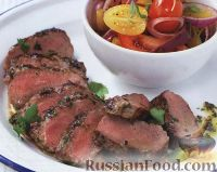 Фото к рецепту: Баранина с петрушкой и розмарином, жареная на гриле