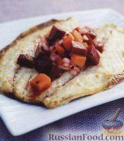 Фото к рецепту: Скумбрия со свеклой и бататом (сладким картофелем)