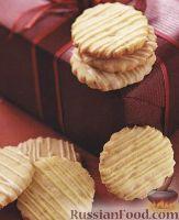 Фото к рецепту: Песочное печенье с лесными орехами  и лаймом