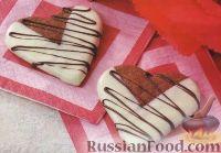 Фото к рецепту: Песочное печенье «Шоколадные сердечки»