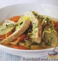 Фото к рецепту: Тушеная индейка с овощами
