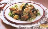 Фото к рецепту: Салат с лососем и спаржей