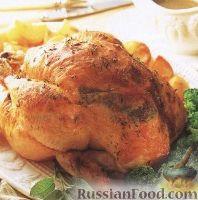 Фото к рецепту: Курица с лимоном и травами