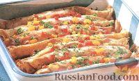 Фото к рецепту: Рулетики из блинчиков