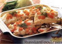 Фото к рецепту: Печеная треска с фенхелем и картофелем